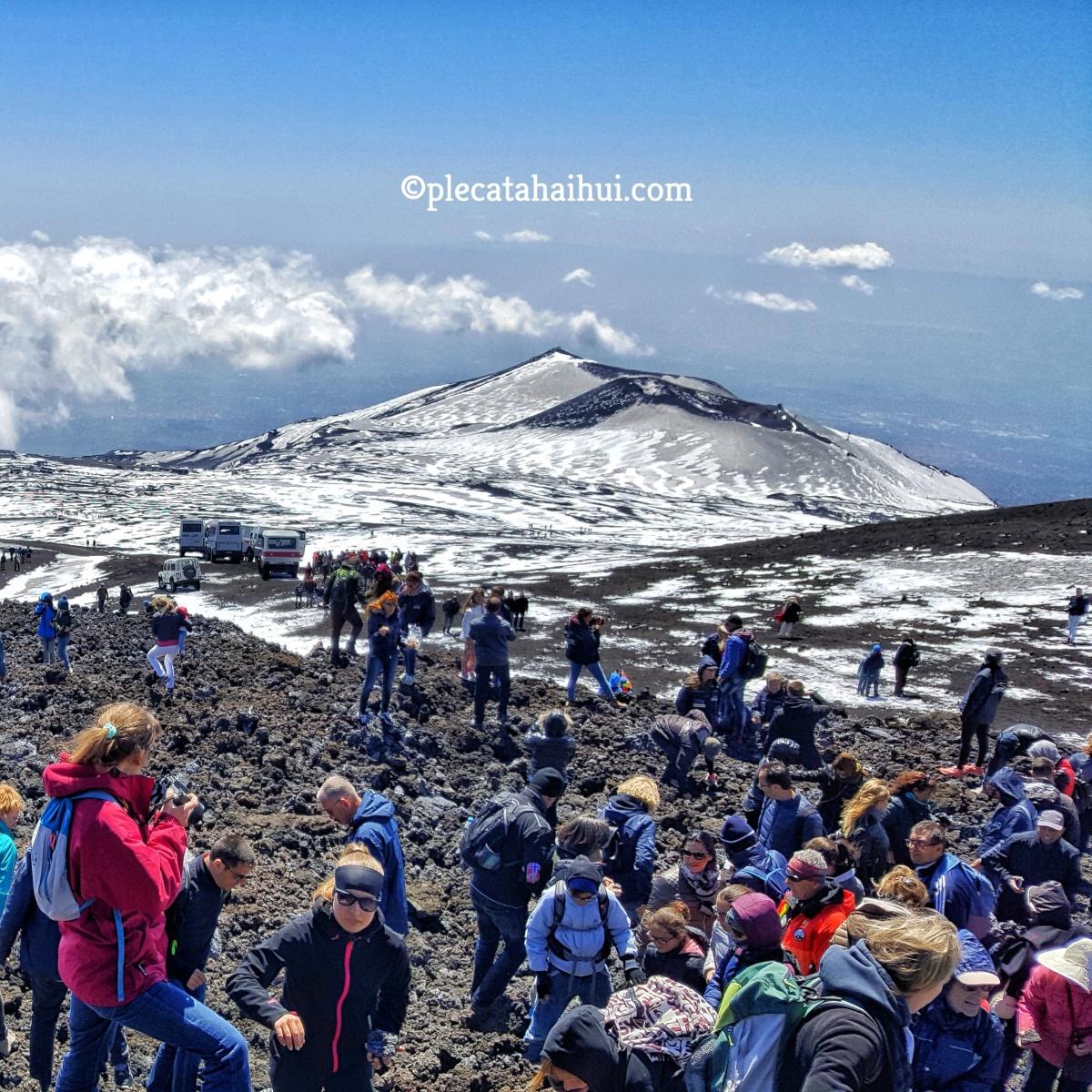 Am urcat pe vulcanul ETNA din Sicilia!